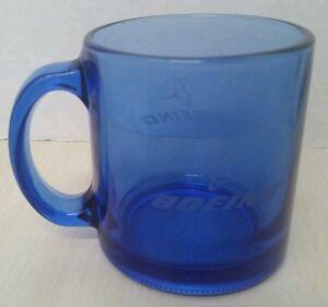 Boeing Large Clear Blue Gl Coffee Mug Cup Usa Ebay