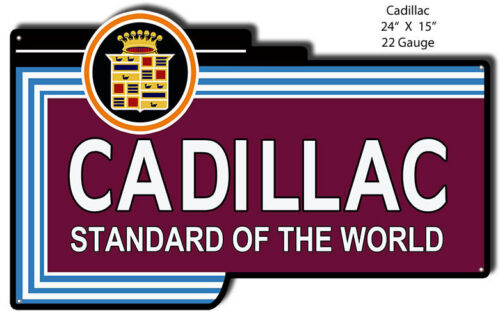 Cadillac Standard Reproduction Laser Cut Out 15x24
