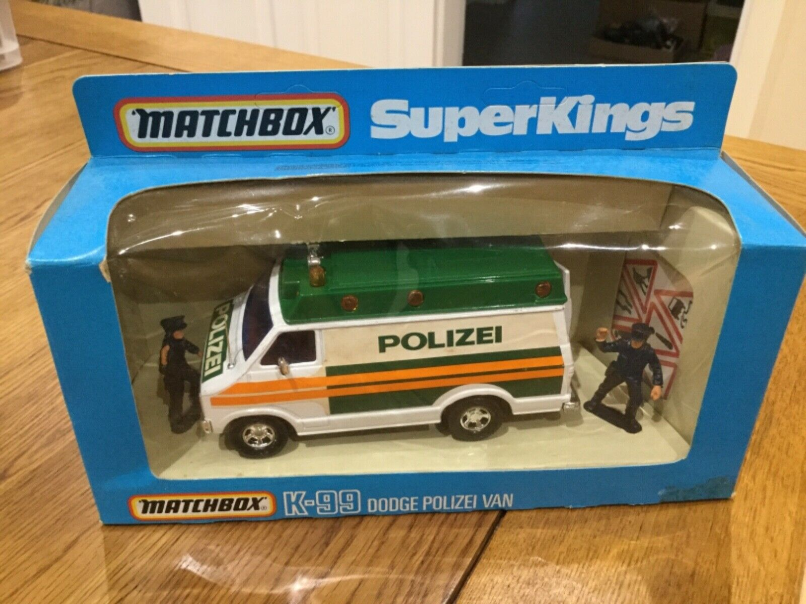 Matchbox Moko Lesney Superkings K99 DODGE POLIZEI Van