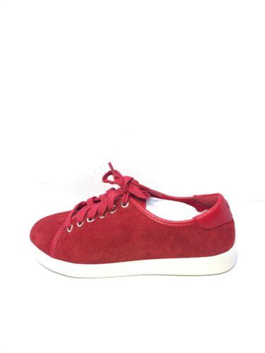 in scamosciata Red Vionic 4 Uk Ladies stringate taglia Scarpe basse pelle ginnastica da qYw0Bz