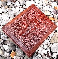 ' CROC 3' genuine leather wallet mens real wallet organiser mens leather wallet