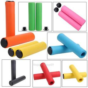 Bike-Bicycle-Rubber-Handlebar-Handle-Bar-Cover-Scooter-End-Grip-Soft-Silicone