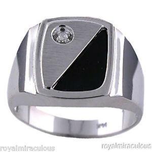 Onyx Mens Band Ring