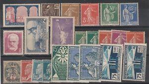 FRANCOBOLLI-1920-30-FRANCIA-LOTTO-Z-9719