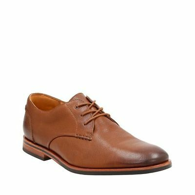 Clarks Men's Broyd Walk Oxford Tan Leather Dress Shoes 26123856 | eBay