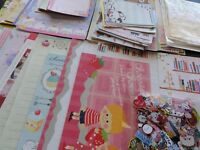 346 pc Designer Stationery Note Paper Letter Envelopes Sticker Memo Writing Set