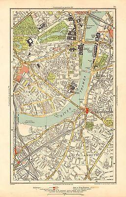 The Mall London Map.1933 London Map Westminster Pimlico Lambeth Kennington The Mall Ebay