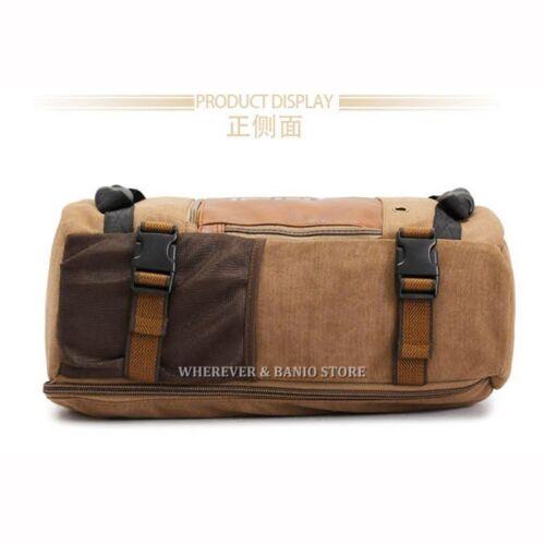 KUAKKO Men Canvas Laptop Backpack Outdoor Sport Shoulder Travel bag Strong UU291