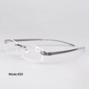 8c4def993f2 Image is loading TR90-Flexible-Reading-Glasses-Mens-Women-Rimless-Reader-