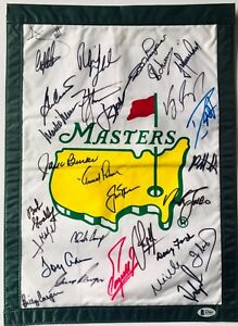 Masters-golf-flag-champions-signed-arnold-palmer-jack-nicklaus-player-j-spieth