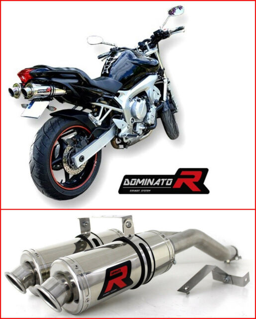 DOMINATOR Exhaust ROUND YAMAHA FZ6 04-14 + DB KILLER
