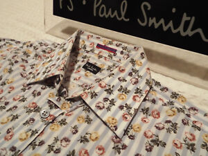 PAUL SMITH Mens Shirt  Size 15034 CHEST 40034  RRP 95 FLORAL AND STRIPES - Northampton, Northamptonshire, United Kingdom - PAUL SMITH Mens Shirt  Size 15034 CHEST 40034  RRP 95 FLORAL AND STRIPES - Northampton, Northamptonshire, United Kingdom