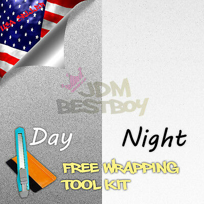 """4/""""x8/"""" Sample Reflective Blue Vinyl Wrap Sticker Decal Graphic Sign Adhesive Film"""
