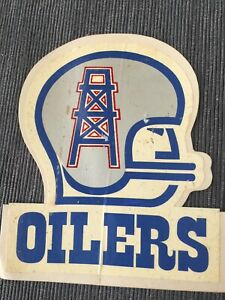 NEW-UNUSED-RARE-Vintage-1960s-Houston-Oilers-Decal-Sticker-Helmet