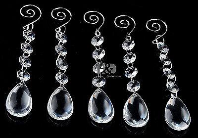 10 Water Chandelier Glass Crystals Lamp Prisms Parts Hanging Drop Light Pendants