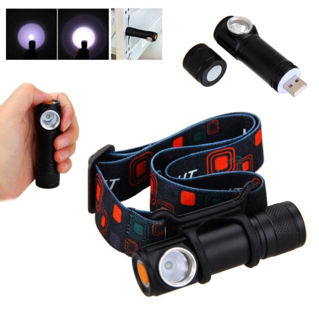 USB Rechargeable LED Headlamp Head Torch Flashlight Work light Headlight Battery