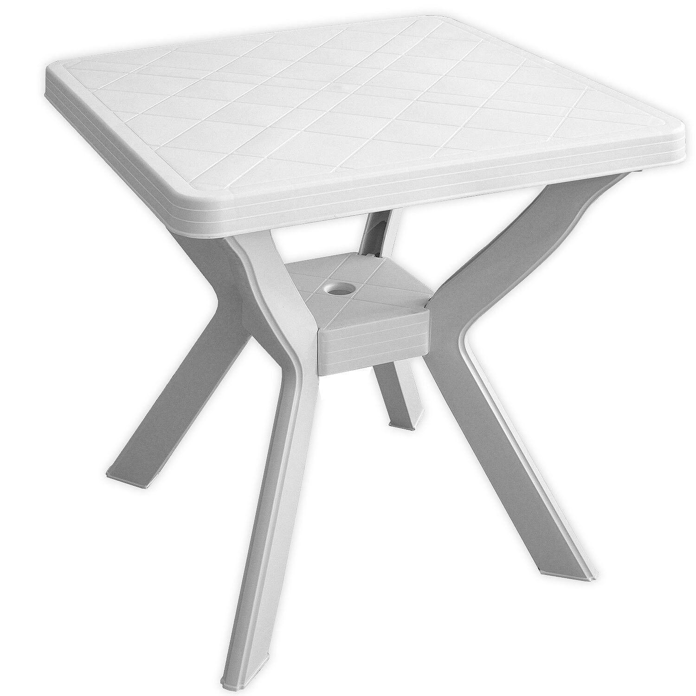 Table de jardin 70x70xh72cm Table de camping Table de Bistrot Bistrot Bistrot Table D'Appoint Balcon Mobilier Blanc 16a409