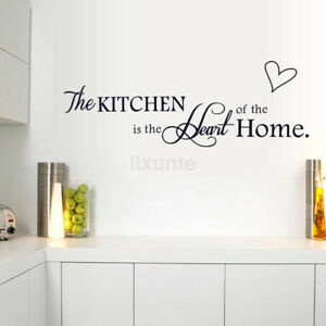 kitchen letter removable vinyl wall sticker mural decal quotes art