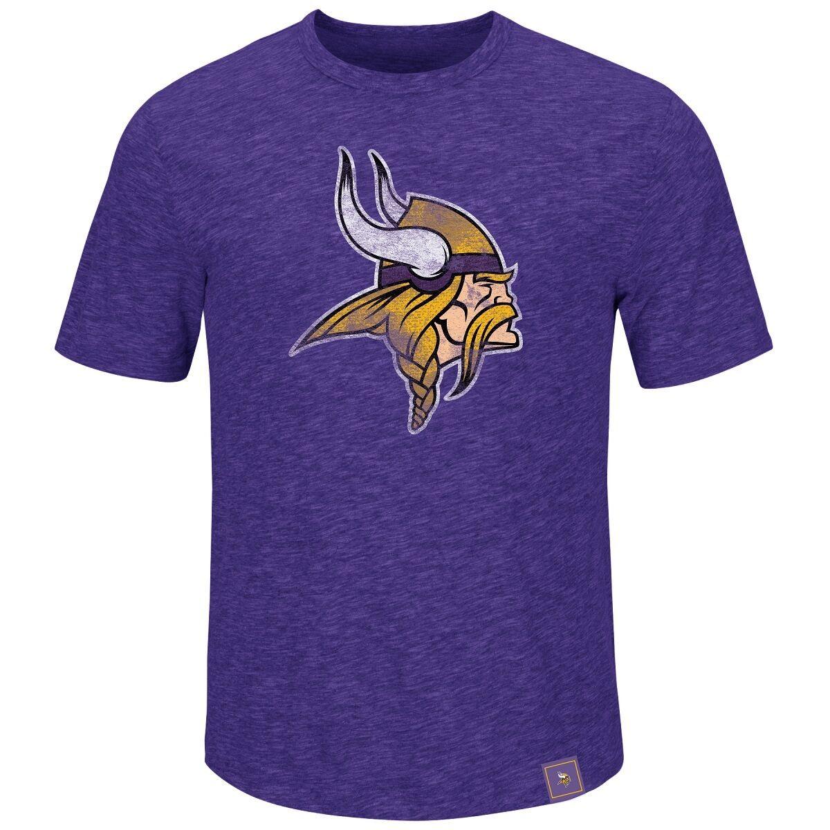 NFL Football T-Shirt T-Shirt T-Shirt MINNESOTA VIKINGS Logo Hyper Slub von Majestic 932587