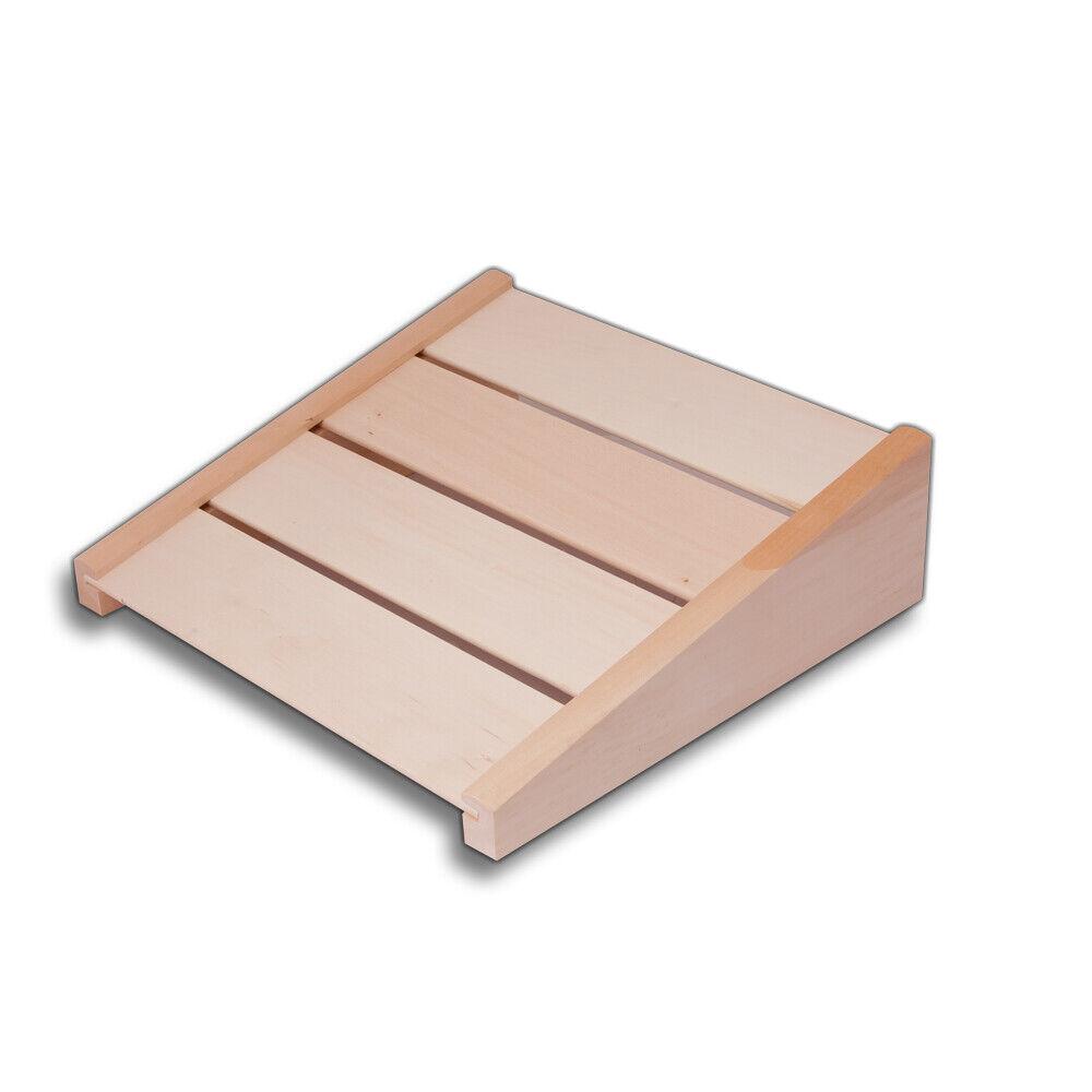 Dewello Sauna Holz Rückenlehne ergonomische S Form Rückenstütze Saunalehne