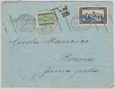 MAROCCO:  storia postale - BUSTA per ROMA - TASSATA Segnatasse 23 centesimi 1934