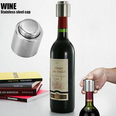 Steel Vacuum Sealed Red Wine Storage Bottle Stopper Plug Bottle Cap dous
