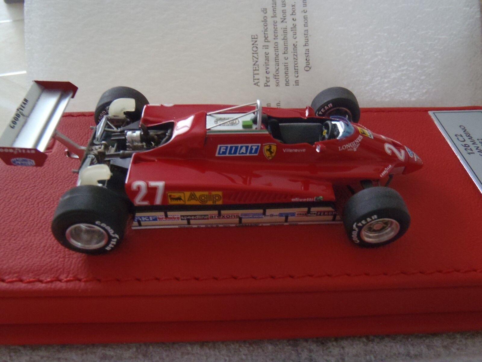BBR 1 43 échelle 1982 Ferrari 126C2,  2 de 20, très rare, San Marino