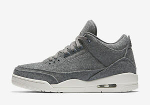 6d427e1cbd31 AIR JORDAN RETRO 3 WOOL MEN S 854263-004 III OG DARK WOLF COOL GREY ...