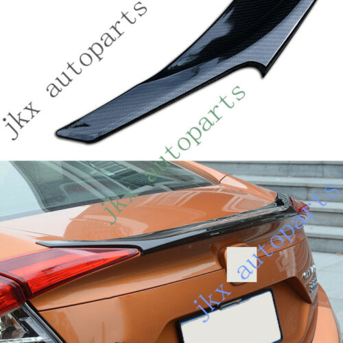 Carbon Fiber Rear Trunk Spoiler Lip Cover Molding Trim For Honda Civic 2016-2018