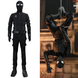 Spider-Man-Far-From-Home-Peter-Parker-Stealth-Suit-Uniform-Cosplay-Black-Costume