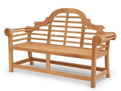 Gartenbank Sitzbank Gartenmöbel 4-Sitzer aus massivem Teak Holz (2678)