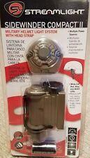 Streamlight Sidewinder Compact II Military Model Helmet Mount Flashlight 14512