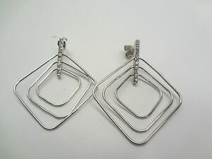 Sterling-Silver-Cubic-Zirconia-Concentric-Shaped-Earrings-e63
