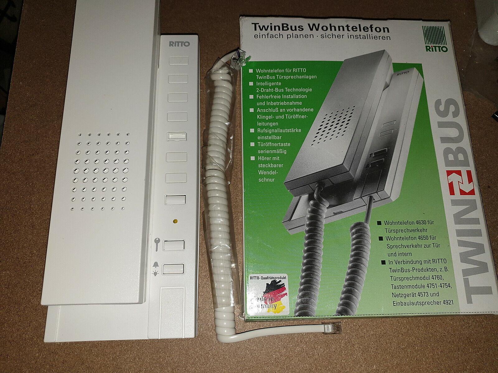 Ritto 4210 70 Wohntelefon Concierge weiß TwinBus Sprechanlage NEU 4210.0.008.03