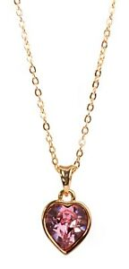 Swarovski-Elements-Crystal-Heart-Pendant-Necklace-Gold-Plated-Authentic-7342w