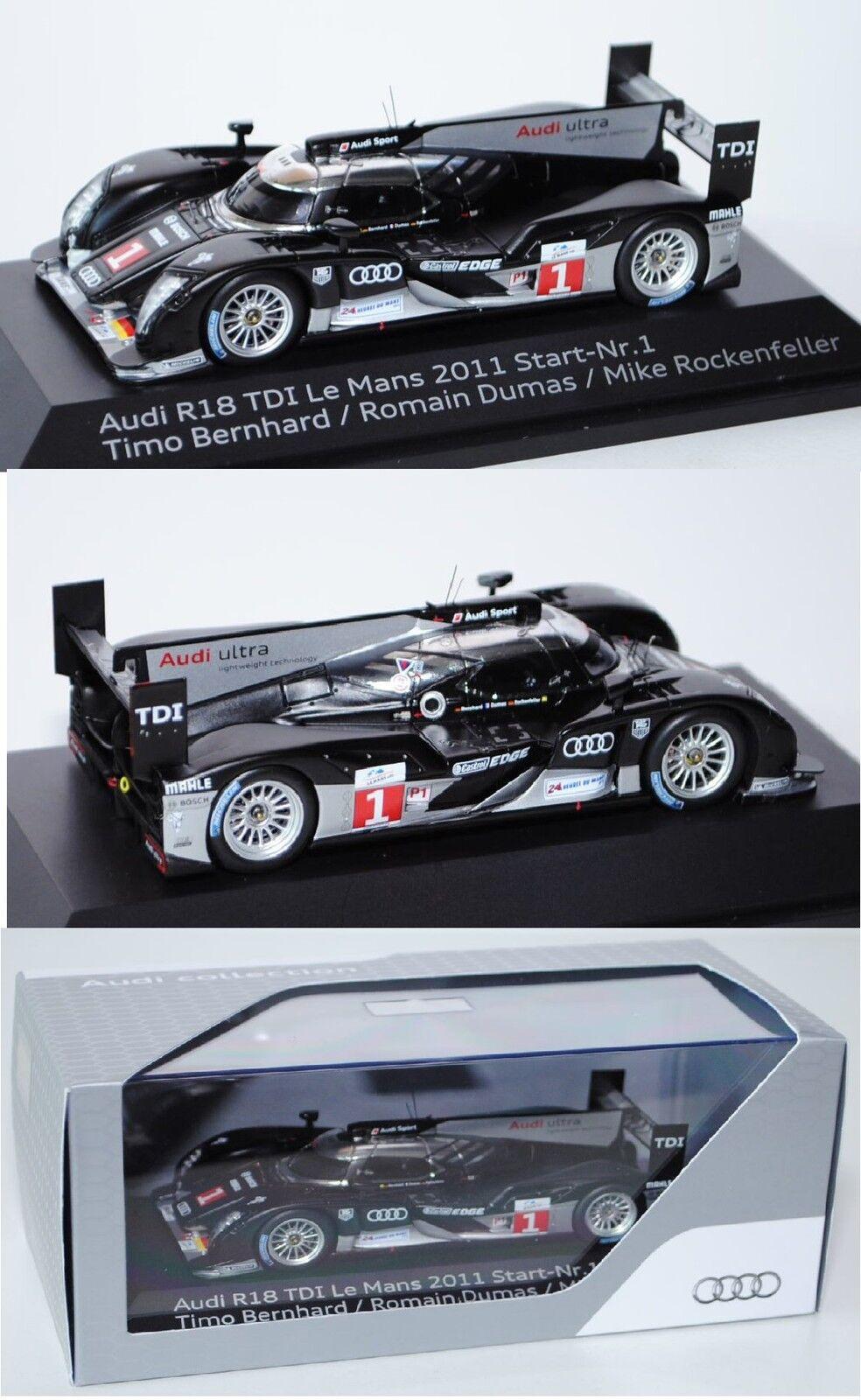 Spark 1100123 Audi R18 TDI Le Mans 2011, 1 43, Werbeschachtel