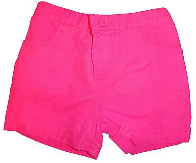 4T 6X Toddler Baby Girl Okie Dokie Match-Ups Fuchsia Pink Shorts Sizes 3T