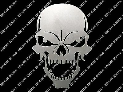 Skull 05 Metal Stencil Wall Art Garage Hot Rat Rod Motorcycle Chopper Kustom