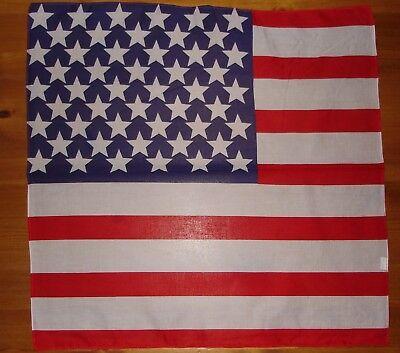 USA AMERICAN FLAG BANDANA BANDANNA COTTON DURAG 22X22 HANKERCHEIF FREE SHIPPING