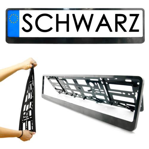 2x Kennzeichenhalter in Schwarz Kennzeichen Nummernschild Halter ...