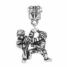 Martial Arts Taekwondo Karate Fighting Dangle Charm for European Bead Bracelets