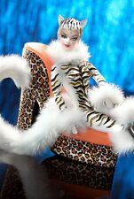Barbie Lounge Kitties Collection #1 2003 White Tiger #C2478 NRFB Mattel