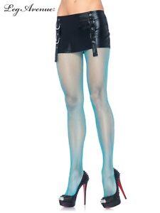 0c897c3b016 Leg Avenue costume 80s tights Neon Blue Nylon Fishnet pantyhose ...