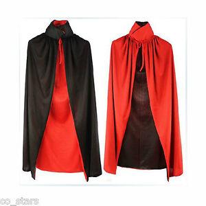 Halloween-Black-Red-Vampire-Cape-Dracula-Devil-Cloak-Fancy-Costume-for-Kids-UK