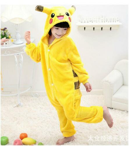 UK Kids Animal Pyjamas Pikachu Onesie11 Kids Pokemon Charmander Costume Pyjama