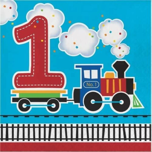 ALL ABOARD Birthday Party Range Tableware Balloons Trains Supplies Decorations