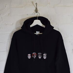 Details about RIP Day of the Dead Rappers ODB,Tupac,Easy E,BIG, Black  Hoodie by Actual Fact