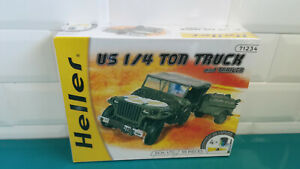 01-05-19-2-Heller-US-1-4-ton-truck-and-trailer-jeep-maquette-model-kit-1-72