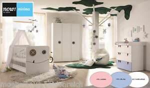 Now by h lsta minimo komplett babyzimmer hellblau blau hellrosa rosa wei neu ebay - Babyzimmer rosa weiss ...