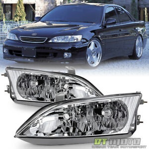 Details about For 1997-2001 Lexus ES300 Factory Style Halogen Headlights  Headlamps Left+Right